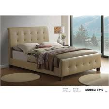 Bed Frames Ta 8147 Ta Qb Global Furniture 8147 Taupe Bed Taupe