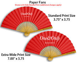 custom paper fans custom printed paper fans promotional fans free shipping
