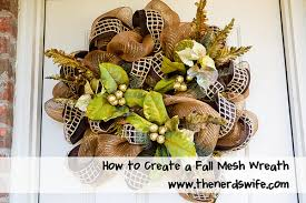 how to make a mesh wreath how to create a fall mesh poly deco wreath the s