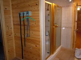 Acrylic Shower Doors by Glass Block Shower In A Rustic Log Home Collins Georgia