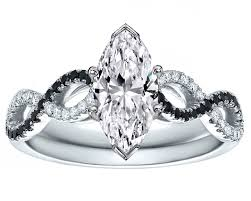 marquise cut engagement rings engagement ring marquise cut black white infinity