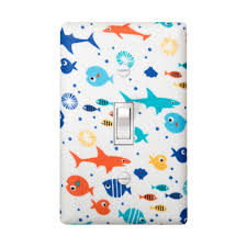 under the sea light switch plate cover boys by sskdesigns