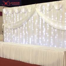 wedding backdrop lights white wedding backdrops with swag and light ready made wedding
