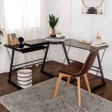 Black Glass L Shaped Desk L Shaped Desks For Less Overstock
