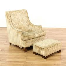 modern armchair with ottoman this mid century modern armchair and ottoman are upholstered in a