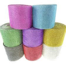 diamond mesh ribbon rhinestone diamond wrap mesh ribbon 4 3 4 inch 10 yards