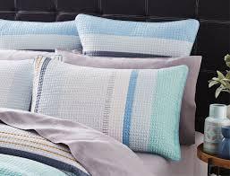 morgan u0026 finch montego quilt cover blue stripe the block shop