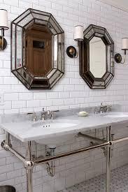 Polished Nickel Vanity Mirror Beautiful Master Bathroom Designs Features Polished Nickel And