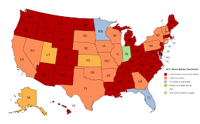Red State Map by 2017 Stock Market Sentiment Map Beactivist