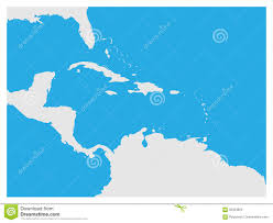 Central America Blank Map by Map Of Caribbean Region And Central America Grey Land Silhouette