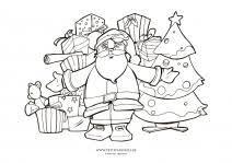 Coloriages de Noël pour enfants  Petit Papa Noël