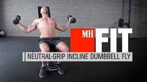 Neutral Grip Incline Dumbbell Bench Press Build Bigger Shoulders With This Dumbbell Fly Variation Men U0027s Health
