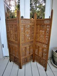 False Wall Room Divider Mid Century Modern Screen Partition Retro