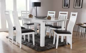 6 Chair Dining Room Table by White Dining Table And Chairs The Chairs The Chandelier