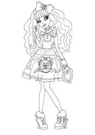 fashion design coloring pages free printable ever after high coloring pages madeline hatter