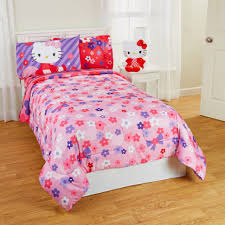 Teen Floral Bedding Bedroom Hello Kitty Comforter Set Twin Toddler Bed Sets Teen