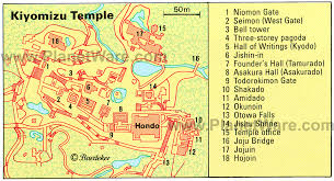 Himeji Castle Floor Plan Kiyomizu Temple Floor Plan Map Kjóto Kijomizudera Pinterest
