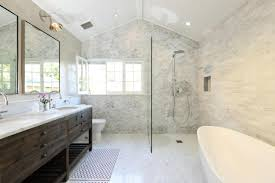 Studio Bathroom Ideas Stylish White Master Bathroom Featuring Ann Sacks Lux Tile Ideas