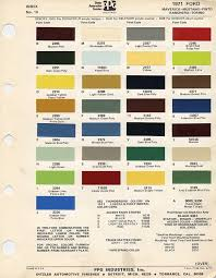 1971 mustang paint chip chart with mixing codes maine mustang