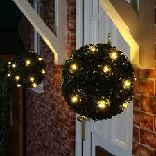 Warm Solar Lights by Pink Flower Solar Topiary Ball With 20 Warm White Leds Love The