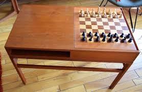 Modern Chess Table Vintage 1960 U0027s Mcm Danish Modern Kurt Ostervig Teak Chess Board