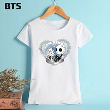 bts the nightmare before t shirt femme cotton