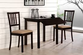 Dining Room Ideas For Small Spaces Compact Dining Space Arrangement With Drop Leaf Dining Table For