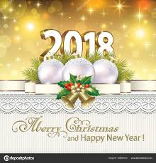 happy new year post card postcard happy new year 2018 with balls stock vector seriga