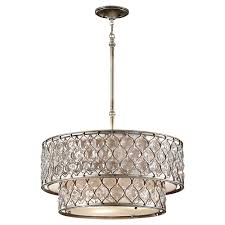 Large Drum Light Fixture by F2707 6bus 6 Light Chandelier Burnished Silver For The Home