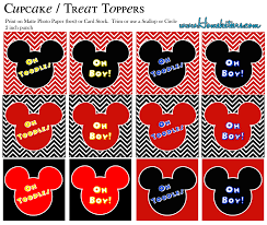 big mickey mouse party printable kit