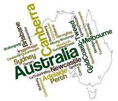 australia map of cities australia map and cities stock vector illustration of greater