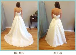 Wedding Dress Bustle May I See Pro Pics Of You In Your Dress With No Train Weddingbee