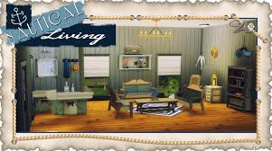 Nautical Living Room Ts3 To Ts4 Nautical Living Updated Sims 4 Designs