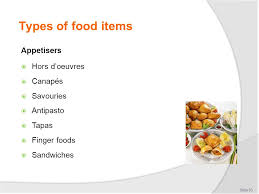cuisine types select prepare and serve special cuisines ppt
