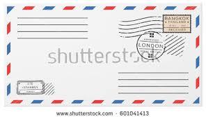 vintage air mail envelope stamps marks stock vector 411390898