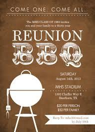 50th high school class reunion invitation unique class reunion invitations rustic brown bbq class reunion