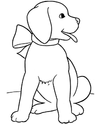 puppy colouring picture 12 colouring club