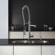 kraus commercial pre rinse chrome kitchen faucet kitchen faucet kraususa