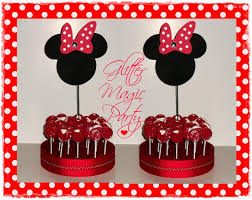 minnie mouse party decorations minnie mouse lollipops or cakepops by glittermagicparty on zibbet