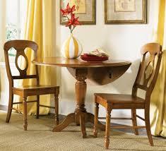 enchanting round brown white teak wood drop leaf kitchen table