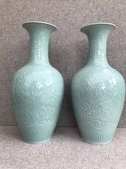 Chinese Celadon Vase Antiques Atlas Qing Dynasty Chinese Ceramics 1644 1912