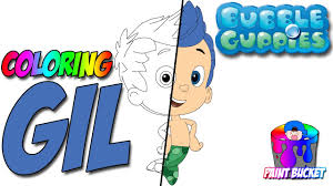 bubble guppies coloring pages gil nickelodeon nick jr coloring