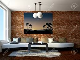 apartments marvelous brick wall living room colorful exposed