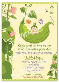 Special Invitation Card Pea In A Pod Baby Shower Invitations Theruntime Com