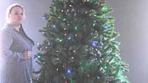 artificial christmas tree with color changing led lights youtube