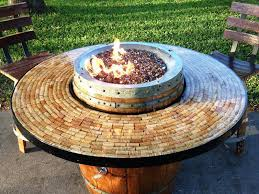 Fire Pit Tables And Chairs Sets - wine barrel fire pit table and chairs set home fireplaces