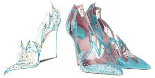 enchanted affair shoe designers sketch cinderella u0027s glass shoe