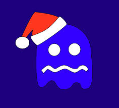 pac man ghost blue clip art library