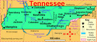 cumberland river map tennessee facts map and state symbols enchantedlearning com