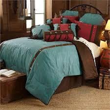 Western Bedding Set Cheyenne Turquoise Western Floral Design Western Bedding Set